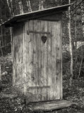 Old wooden outhouse Royalty Free Stock Image