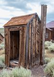 An Old Outhouse in Bodie, California stock images