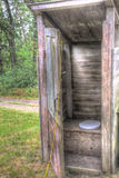 Old wooden outhouse Stock Photos