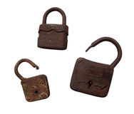 Old wooden padlocks Stock Image