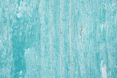 Old wooden painted background in turquoise color. Stock Photo
