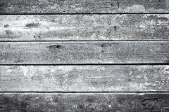 Old wooden painted and chipping paint. Royalty Free Stock Image