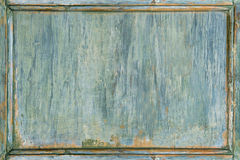 Old wooden painted green frame Stock Image