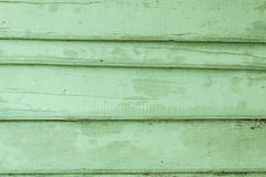 Old wooden painted green. Rustic background Stock Photography