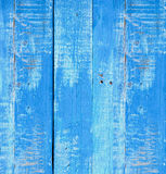 Old wooden painted light blue rustic background, paint peeling Stock Photos