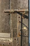 Old Wooden  palace gate and lock Royalty Free Stock Photos