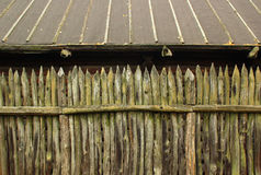 Old wooden palisade fence Royalty Free Stock Image