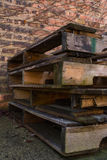 Old wooden pallets. Stock Photos