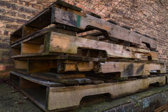 Old wooden pallets. Royalty Free Stock Photos