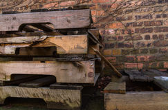 Old wooden pallets. Royalty Free Stock Images