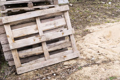 Old wooden pallets Royalty Free Stock Photo