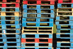 Old wooden pallets Royalty Free Stock Photography