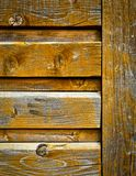 Old wooden the panel ocher color Royalty Free Stock Image