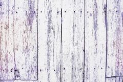 Ancient violet pastel-colored wooden panels, grungy background stock photo