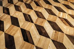 Old wooden parquet flooring design Royalty Free Stock Photos