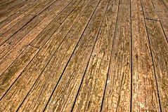 Old wooden patio floor Royalty Free Stock Photography