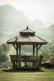 Old wooden pavilion Royalty Free Stock Photos