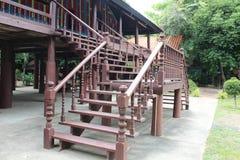 Old wooden pavilion Stock Image