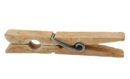 Free Old Wooden Peg On White Stock Photos - 733973