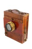 Old wooden photo camera Royalty Free Stock Photography