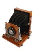 Old wooden photo camera Stock Photo