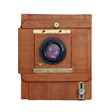 Old wooden photo camera Stock Photography