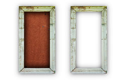 Old wooden photo frame. For home decoration royalty free stock photo