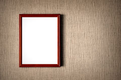 Old wooden photo frame Royalty Free Stock Image