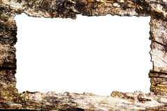 Old wooden photo frame Stock Image