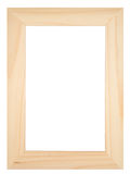 Old wooden photoframe. Isolated on a white background with copyspace Stock Photos