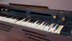 Old wooden piano Royalty Free Stock Photography