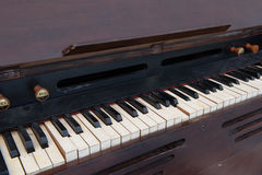 Old wooden piano Royalty Free Stock Images