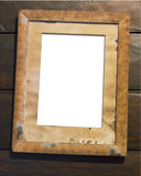 Old wooden picture frame Royalty Free Stock Image