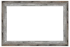 Old wooden picture frame Stock Images