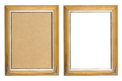 Old wooden picture frame Royalty Free Stock Photography