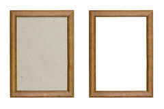 Old wooden picture frame Stock Photography