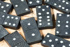 Old Wooden Pieces of the Domino Game Royalty Free Stock Image