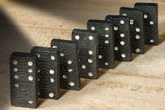 Old Wooden Pieces of the Domino Game Royalty Free Stock Photos