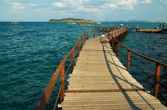 Old wooden pier. Royalty Free Stock Photos