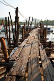 Old Wooden pier Royalty Free Stock Photos