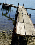 Old wooden pier Royalty Free Stock Images