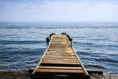 Old wooden pier Royalty Free Stock Photo