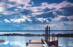 Old wooden pier Royalty Free Stock Image