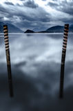 Old wooden pier pilons Stock Photography