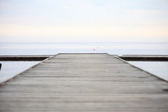 Old wooden pier at the sea Royalty Free Stock Photography