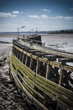 Old wooden pier at Sharpness Royalty Free Stock Photography