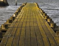 Pier walkway Royalty Free Stock Photos
