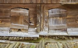 Old wooden pig stall Royalty Free Stock Image