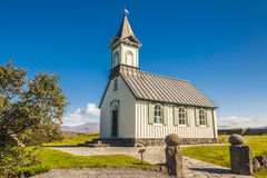 Old wooden Pingvallkirkja Church - Iceland Stock Photography