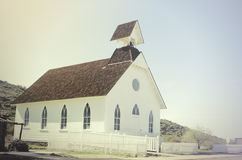 Old wooden Pioneer church Stock Photos